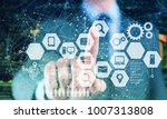 smart retail and omni channel... | Shutterstock . vector #1007313808
