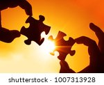 two hands of businessman to...   Shutterstock . vector #1007313928