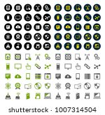 technology icons set computer ... | Shutterstock .eps vector #1007314504
