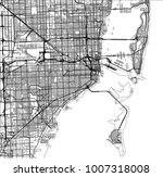 vector map of the city of miami ... | Shutterstock .eps vector #1007318008