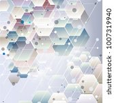 abstract hexagon background.... | Shutterstock .eps vector #1007319940
