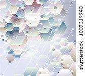 abstract hexagon background.... | Shutterstock .eps vector #1007319940