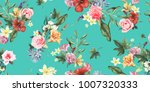 seamless floral pattern with... | Shutterstock .eps vector #1007320333