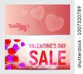 set of happy valentines day...   Shutterstock .eps vector #1007320789