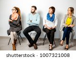 people in casual clothes... | Shutterstock . vector #1007321008