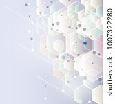 abstract hexagon background.... | Shutterstock .eps vector #1007322280