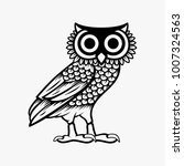 Stock vector owl illustration logo vector owl of athena vector isolated on white background 1007324563