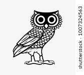 Stock vector owl illustration logo vector owl of athena vector 1007324563