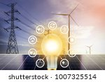 electrical energy  clean energy ... | Shutterstock . vector #1007325514