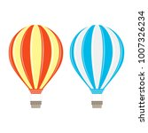 hot air balloon in flat style.... | Shutterstock .eps vector #1007326234