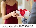 valentine's day concept. happy... | Shutterstock . vector #1007330638