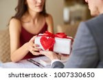 valentine's day concept. happy... | Shutterstock . vector #1007330650