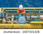 offshore oil rig worker... | Shutterstock . vector #1007331328
