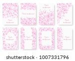 a set of backgrounds with pink... | Shutterstock .eps vector #1007331796