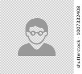 man with glasses vector icon... | Shutterstock .eps vector #1007332408