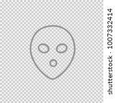 alien face simple isolated... | Shutterstock .eps vector #1007332414