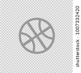 basketball ball simple isolated ... | Shutterstock .eps vector #1007332420