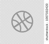 basketball ball simple isolated ... | Shutterstock .eps vector #1007332420