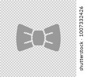 bow tie vector icon eps 10.... | Shutterstock .eps vector #1007332426