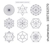 sacred geometry vector design... | Shutterstock .eps vector #1007332570
