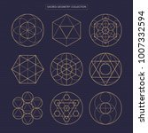 sacred geometry vector design... | Shutterstock .eps vector #1007332594