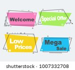 collection of sale banners in... | Shutterstock .eps vector #1007332708