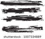 set of grunge brush strokes   | Shutterstock .eps vector #1007334889
