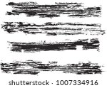 set of grunge brush strokes   | Shutterstock .eps vector #1007334916