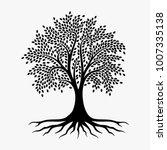 abstract vibrant tree logo... | Shutterstock .eps vector #1007335138