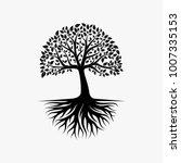 abstract vibrant tree logo... | Shutterstock .eps vector #1007335153