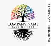 abstract vibrant tree logo...   Shutterstock .eps vector #1007335156