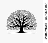 abstract vibrant tree logo... | Shutterstock .eps vector #1007335180