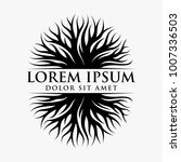 abstract tree logo design  root ... | Shutterstock .eps vector #1007336503