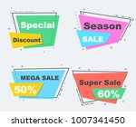 collection of sale flat linear... | Shutterstock .eps vector #1007341450