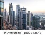 view of dubai international... | Shutterstock . vector #1007343643