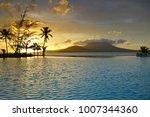 sunset view of the nevis peak... | Shutterstock . vector #1007344360