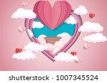 illustration of love and... | Shutterstock .eps vector #1007345524