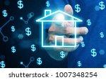 businessman push home   home... | Shutterstock . vector #1007348254