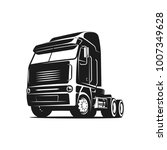 cool truck black and white... | Shutterstock .eps vector #1007349628