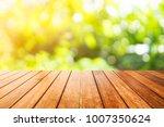 wooden board empty table in... | Shutterstock . vector #1007350624