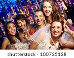 group shot of young women... | Shutterstock . vector #100735138