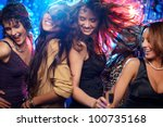 group shot of young women... | Shutterstock . vector #100735168