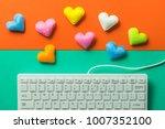 mini heart splash out from... | Shutterstock . vector #1007352100