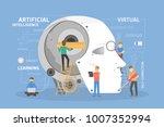 robot head construction. people ... | Shutterstock .eps vector #1007352994