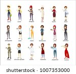 profession women set. police... | Shutterstock .eps vector #1007353000