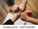 hands of business teamwork... | Shutterstock . vector #1007354080