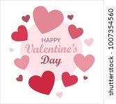 happy valentines day card for... | Shutterstock .eps vector #1007354560