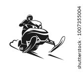 snowmobiling silhouette on... | Shutterstock .eps vector #1007355004