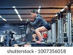 fitness  sport  exercising and... | Shutterstock . vector #1007356018