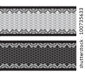 seamless lacy ribbon | Shutterstock .eps vector #100735633